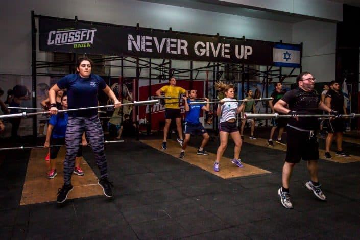 תרגיל הקלין מועבר בצורה מקצועית ומבוקרת בתחילת האימון